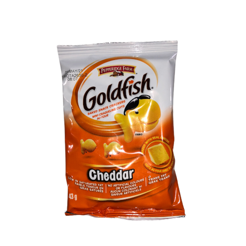 Pepperidge Farm Goldfish Crackers which is found in the Boxesat nut free snacks box or the salty snacks box