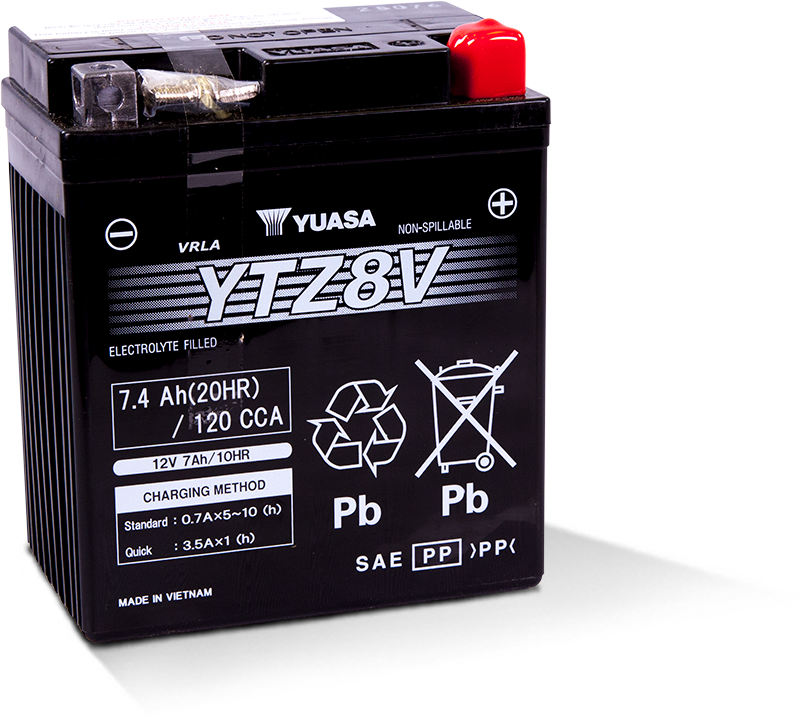 Yuasa Factory Activated AGM High Performance Battery YTZ8V