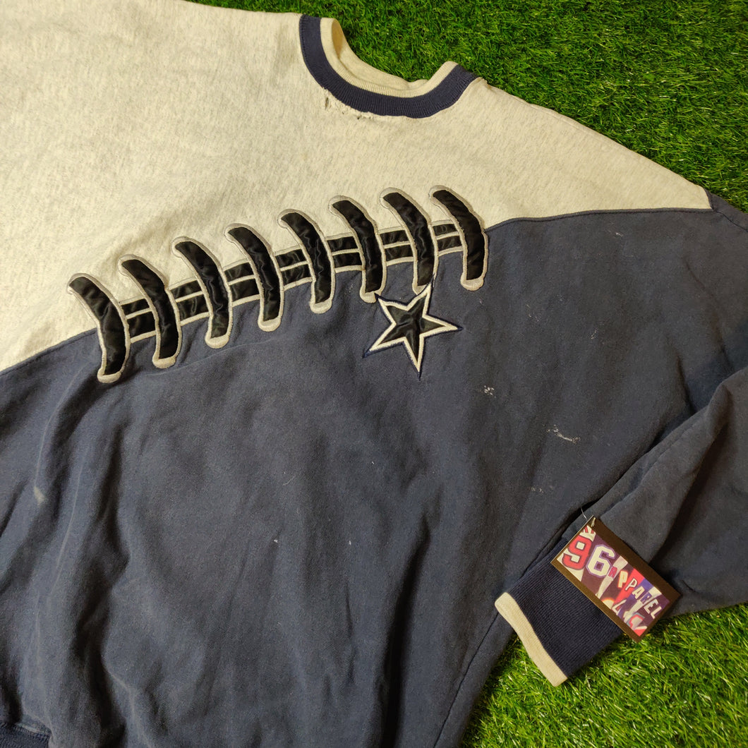 VINTAGE DALLAS COWBOYS STITCH FOOTBALL SWEATSHIRT