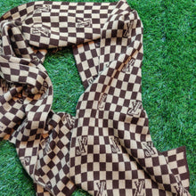Load image into Gallery viewer, DAMIER MONOGRAM KNIT SCARF