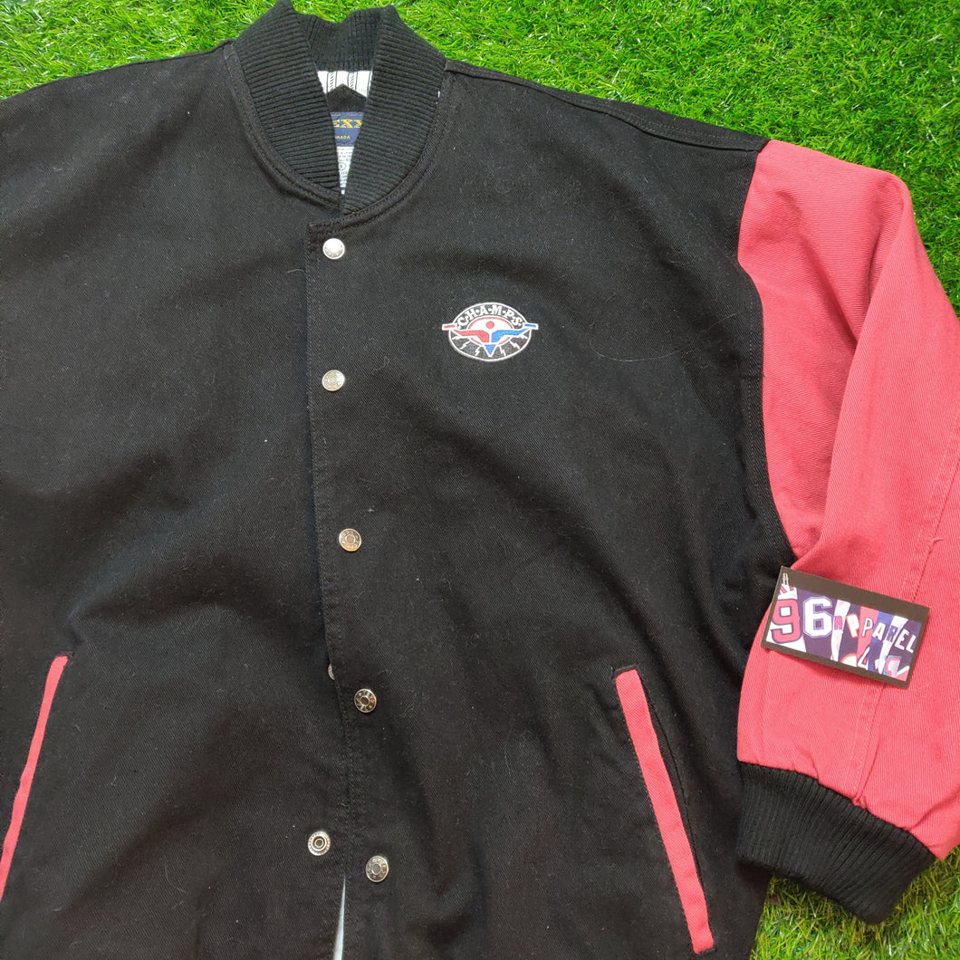 VINTAGE CHAMPS VARSITY CANVAS JACKET
