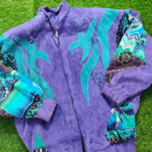 Load image into Gallery viewer, VINTAGE FUNKY SUEDE BOMBER JACKET