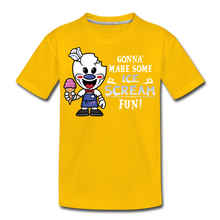 Load image into Gallery viewer, Ice Scream Fun T-Shirt - sun yellow