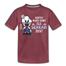 Load image into Gallery viewer, Ice Scream Fun T-Shirt - heather burgundy