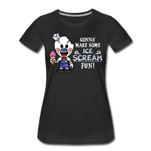 Load image into Gallery viewer, Ice Scream Fun T-Shirt (Womens) - black