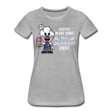 Load image into Gallery viewer, Ice Scream Fun T-Shirt (Womens) - heather gray