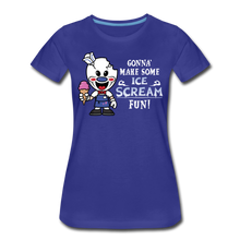 Load image into Gallery viewer, Ice Scream Fun T-Shirt (Womens) - royal blue