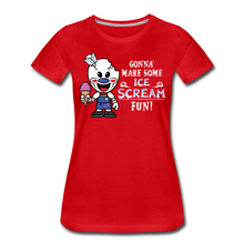 Load image into Gallery viewer, Ice Scream Fun T-Shirt (Womens) - red