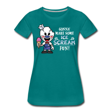 Load image into Gallery viewer, Ice Scream Fun T-Shirt (Womens) - teal