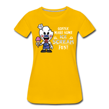 Load image into Gallery viewer, Ice Scream Fun T-Shirt (Womens) - sun yellow