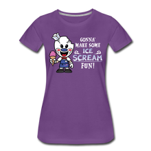 Load image into Gallery viewer, Ice Scream Fun T-Shirt (Womens) - purple