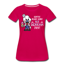 Load image into Gallery viewer, Ice Scream Fun T-Shirt (Womens) - dark pink