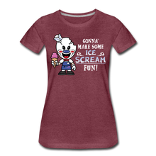Load image into Gallery viewer, Ice Scream Fun T-Shirt (Womens) - heather burgundy