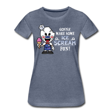 Load image into Gallery viewer, Ice Scream Fun T-Shirt (Womens) - heather blue