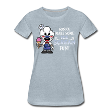 Load image into Gallery viewer, Ice Scream Fun T-Shirt (Womens) - heather ice blue