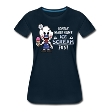 Load image into Gallery viewer, Ice Scream Fun T-Shirt (Womens) - deep navy