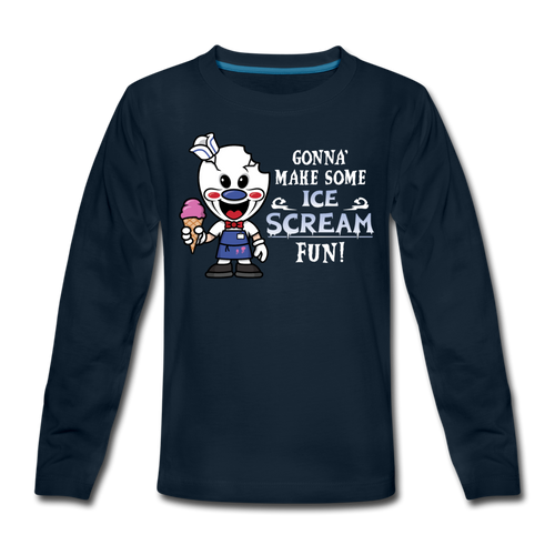 Ice Scream Fun T-Shirt - deep navy