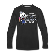 Load image into Gallery viewer, Ice Scream Fun Long-Sleeve T-Shirt (Mens) - black