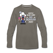 Load image into Gallery viewer, Ice Scream Fun Long-Sleeve T-Shirt (Mens) - asphalt gray