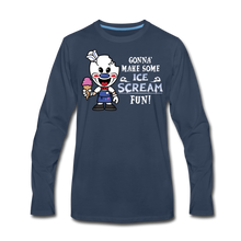 Load image into Gallery viewer, Ice Scream Fun Long-Sleeve T-Shirt (Mens) - navy