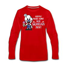 Load image into Gallery viewer, Ice Scream Fun Long-Sleeve T-Shirt (Mens) - red