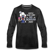 Load image into Gallery viewer, Ice Scream Fun Long-Sleeve T-Shirt (Mens) - charcoal gray