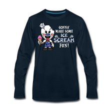 Load image into Gallery viewer, Ice Scream Fun Long-Sleeve T-Shirt (Mens) - deep navy