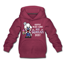 Load image into Gallery viewer, Ice Scream Fun Hoodie - burgundy