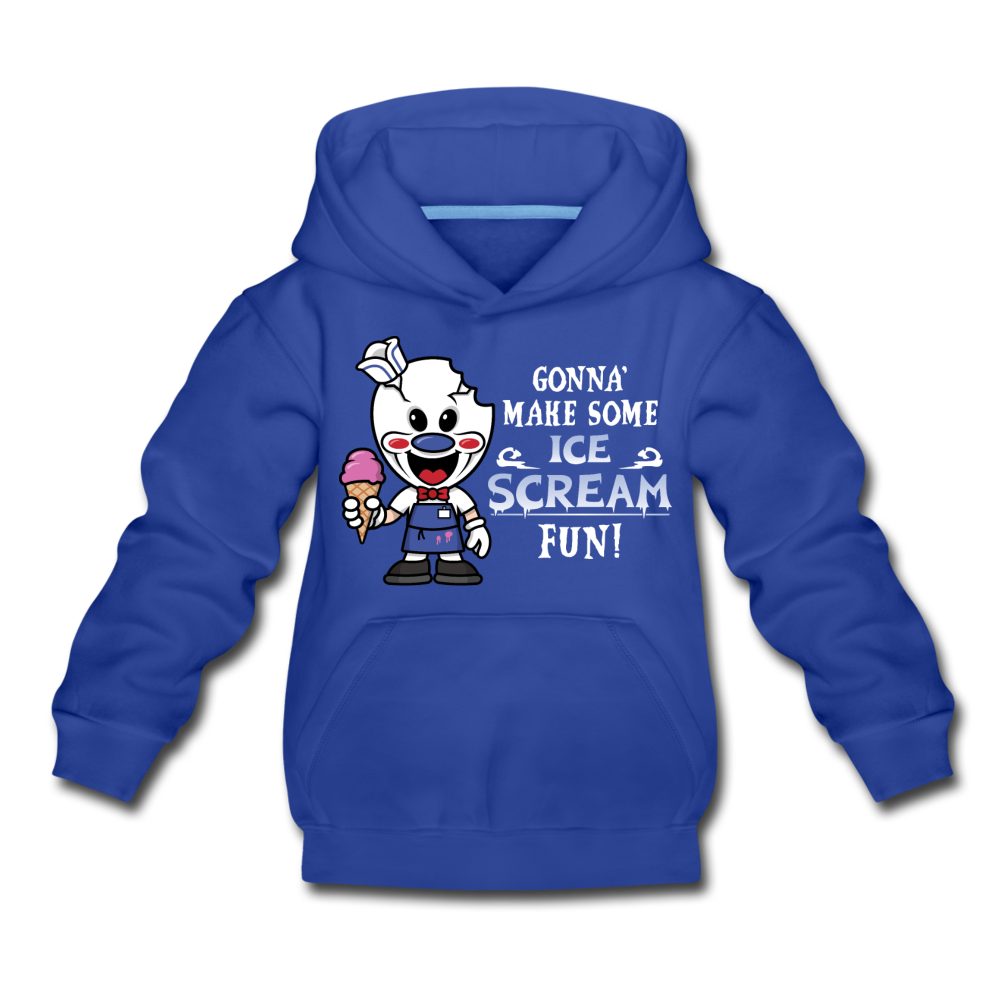 Ice Scream Fun Hoodie - royal blue