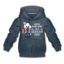 Load image into Gallery viewer, Ice Scream Fun Hoodie - heather denim