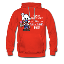 Load image into Gallery viewer, Ice Scream Fun Hoodie (Mens) - red