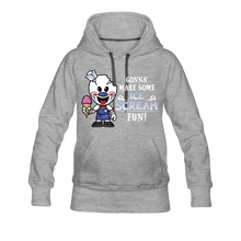 Load image into Gallery viewer, Ice Scream Fun Hoodie (Womens) - heather gray