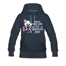 Load image into Gallery viewer, Ice Scream Fun Hoodie (Womens) - navy