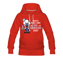 Load image into Gallery viewer, Ice Scream Fun Hoodie (Womens) - red