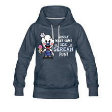 Load image into Gallery viewer, Ice Scream Fun Hoodie (Womens) - heather denim