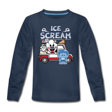 Load image into Gallery viewer, Ice Scream Truck Long-Sleeve T-Shirt - navy