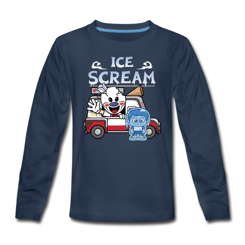 Ice Scream Truck Long-Sleeve T-Shirt - navy
