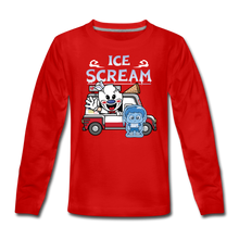 Load image into Gallery viewer, Ice Scream Truck Long-Sleeve T-Shirt - red