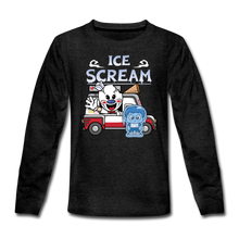 Load image into Gallery viewer, Ice Scream Truck Long-Sleeve T-Shirt - charcoal gray