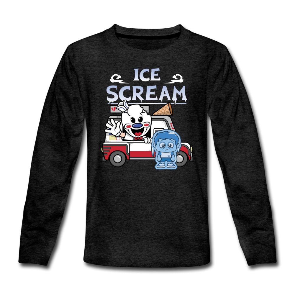 Ice Scream Truck Long-Sleeve T-Shirt - charcoal gray