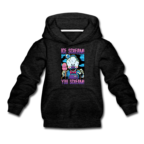 Ice Scream You Scream Hoodie - charcoal gray