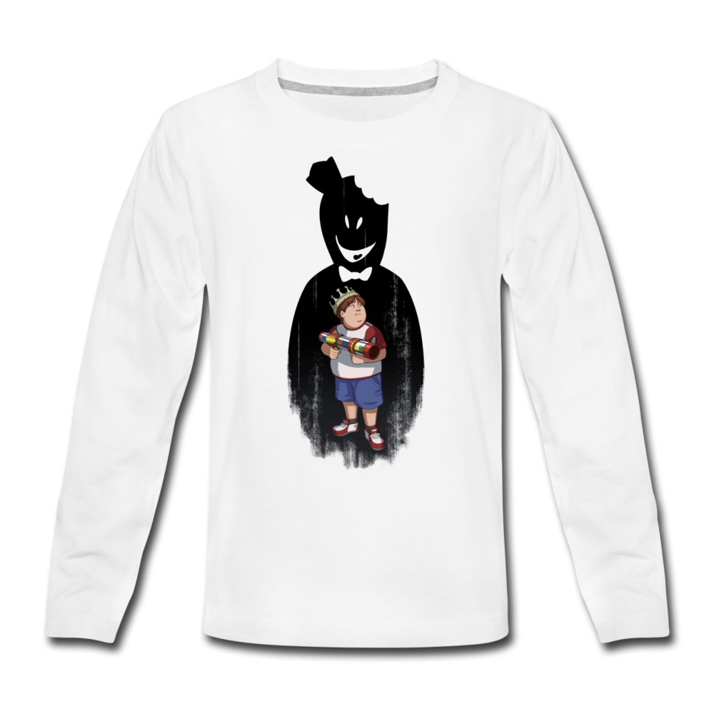 Charlie Ready To Attack Long-Sleeve T-Shirt - white