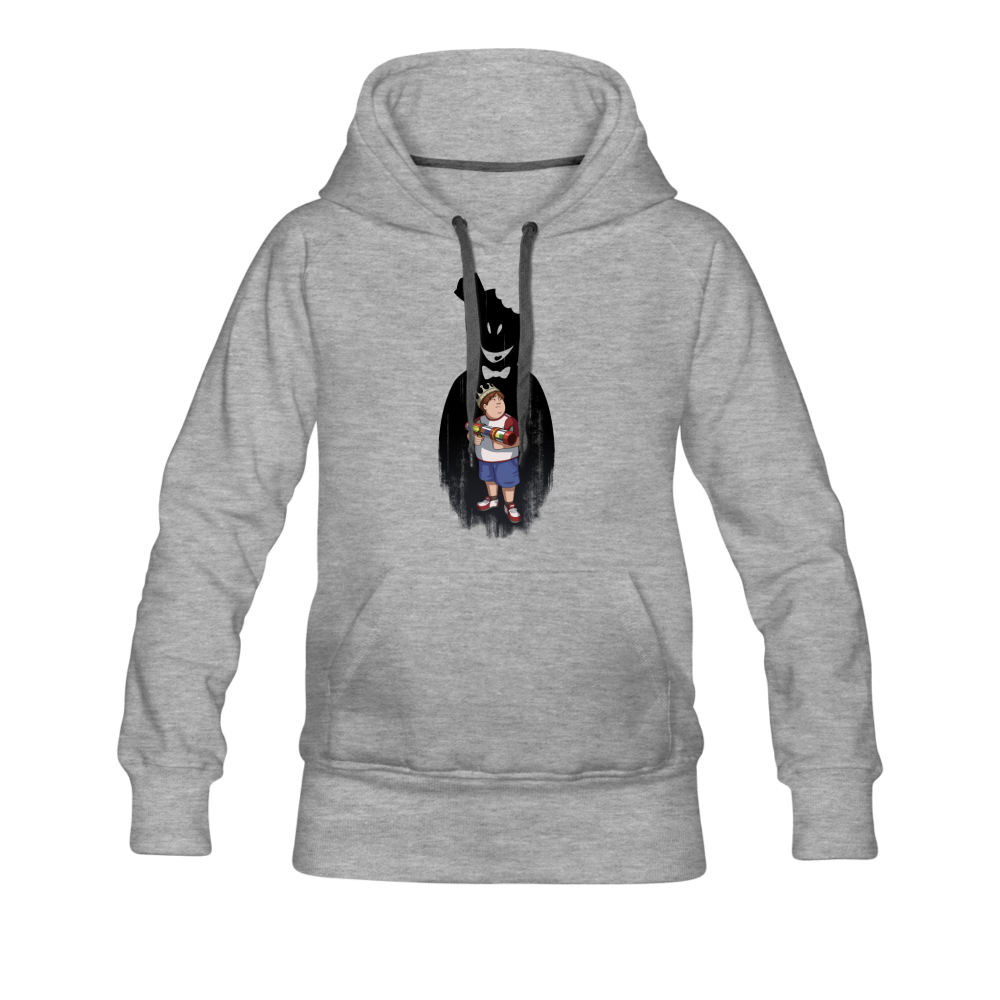 Charlie Ready To Attack Hoodie (Womens) - heather gray
