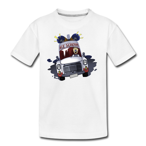 Ice Scream Driving T-Shirt - white