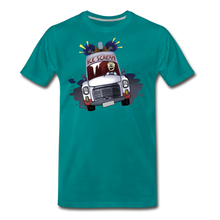 Load image into Gallery viewer, Ice Scream Driving T-Shirt (Mens) - teal