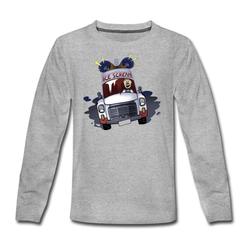 Ice Scream Driving Long-Sleeve T-Shirt - heather gray
