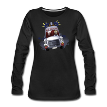Load image into Gallery viewer, Ice Scream Long-Sleeve T-Shirt (Womens) - black