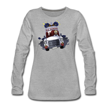 Load image into Gallery viewer, Ice Scream Long-Sleeve T-Shirt (Womens) - heather gray