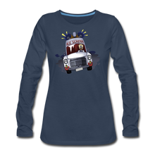 Load image into Gallery viewer, Ice Scream Long-Sleeve T-Shirt (Womens) - navy