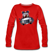 Load image into Gallery viewer, Ice Scream Long-Sleeve T-Shirt (Womens) - red
